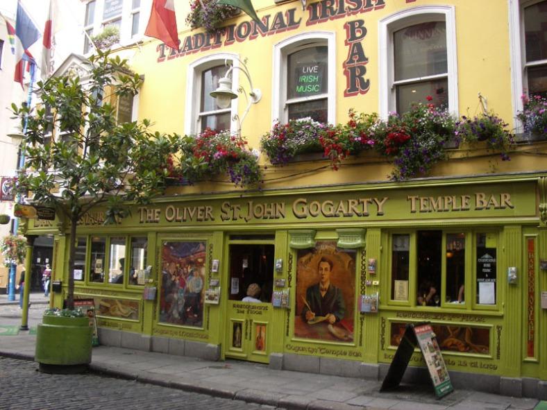 zielony pub