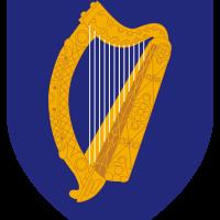 Harfa, koniczyna, kolor zielony i niebieski...