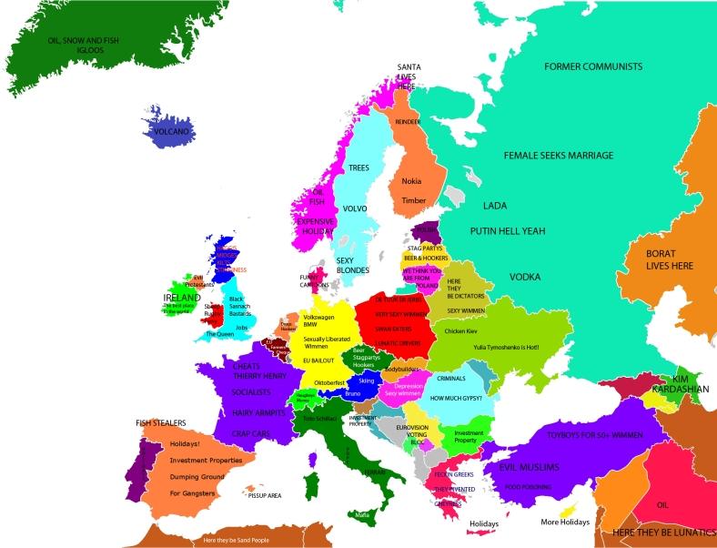 EUROPE ACCORDING TO THE IRISH