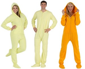 Yellow-footed-pajama-onesies-for-adults