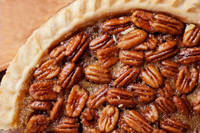 Close up of Pecan Pie